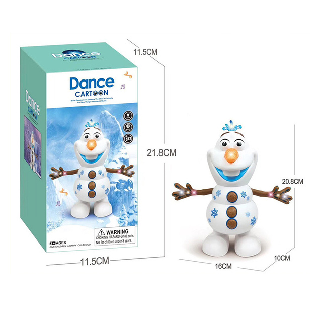 Hot Movie Olaf PVC Action Figures Toys Electric Dancing Snowman Light Concert Singing Hand Dancing Machine Snowman Christmas Toy