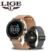 цена на LIGE Smart Watch Men IP67 Waterproof Health Smart Watch Heart Rate Blood Pressure Monitor Pedometer for Android ios Sports Watch