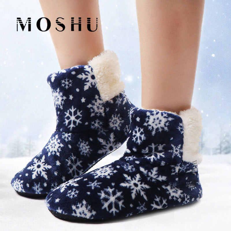 패션 슬리퍼 여성 따뜻한 플립 플롭 눈송이 모피 슬라이드 겨울 홈 신발 크리스마스 Lidies 슬리퍼 소프트 Zapatos 드 Mujer