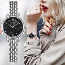 Fashion Silver women's watches Rose Gold Stainless Steel Women Quartz Wristwatch