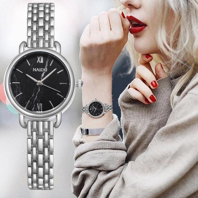 Fashion Silver Women's Watches Rose Gold Stainless Steel Women Quartz Wristwatch Dress Ladies Watch Reloj Mujer Relogio Femino