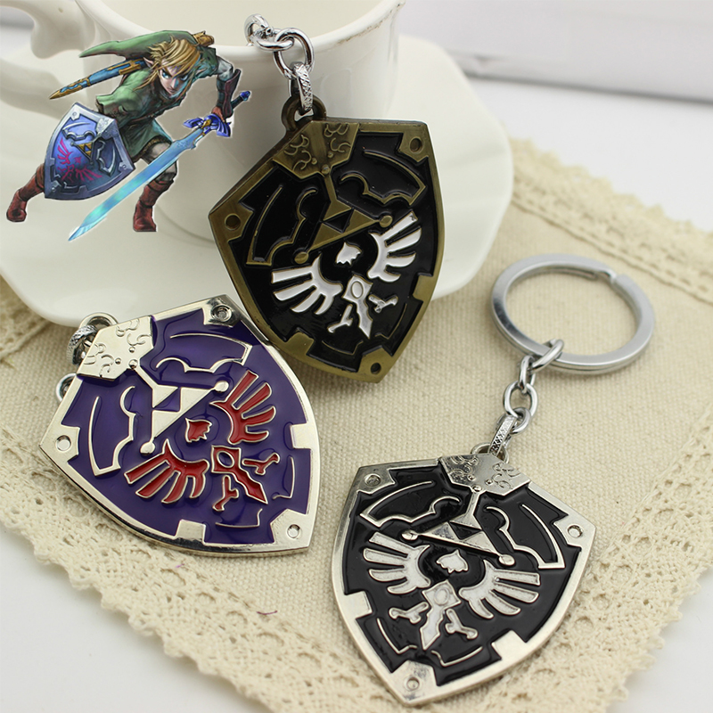 Game The Legend of Zelda Keychain Cosplay Accessories Prop Pendant Keyring Jewelry image