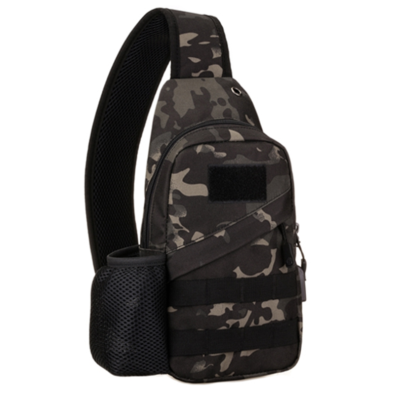 Kettle Chest Bag Outdoor Sports Chest Bag Shoulder Bag With USB Charging Chest Bag Casual Bag Men Bag