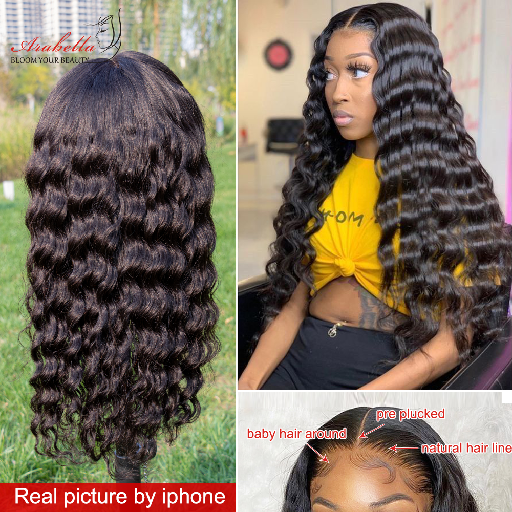 30 Inch  Wigs Loose Deep Wave Lace Front Wig Glueless 13*4 Front Wig  Arabella  Hair Deep Wave Wig 3