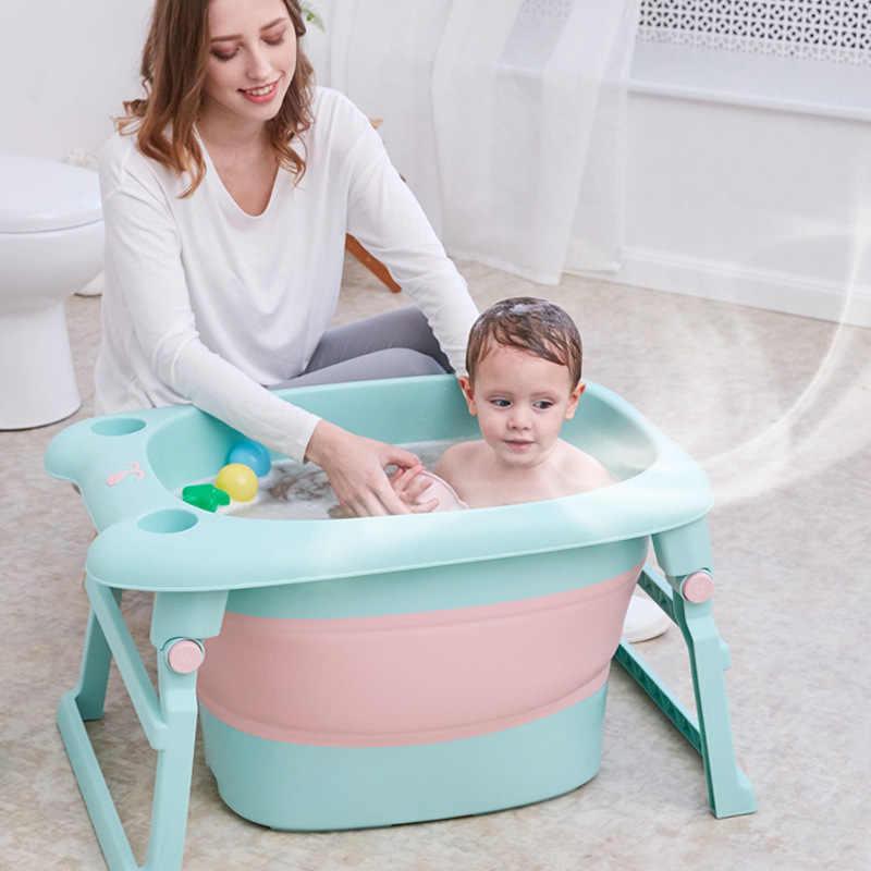 Baignoire Pliante Pour Enfants Bebe 3 En 1 De 0 A 10 Ans Baignoire Antiderapante Baril De Bain Pliable Piscine Materiau Tpr Sain Aliexpress