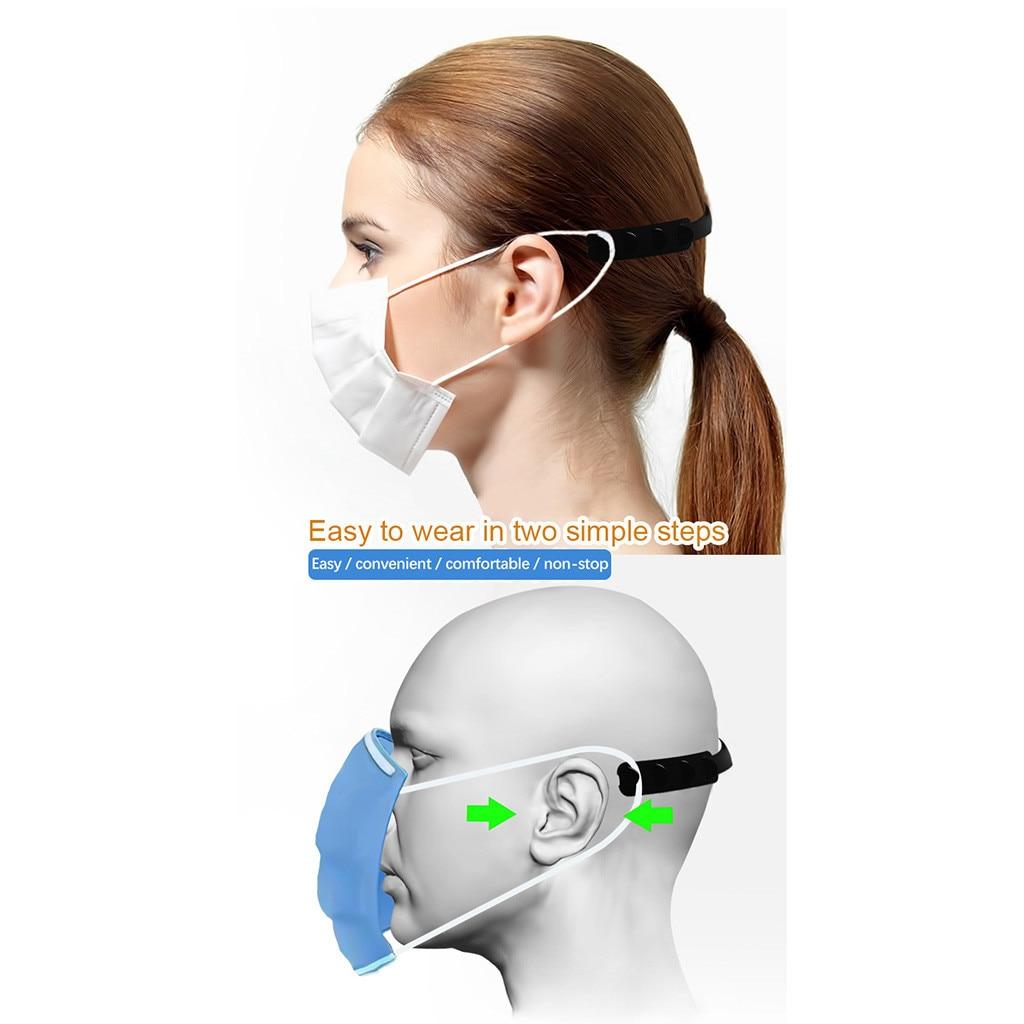 10 pçs máscara facial mascherina mascherina mascherina máscara quatro engrenagem ajustável gancho de extensão da orelha 4
