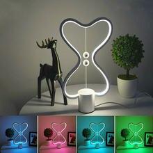 7 цветов Хэн баланс светодиодный Ночной светильник с питанием