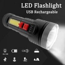 Портативный USB зарядка фонарик IPX6 водонепроницаемый ночь светодиод фонарик кемпинг светодиод лампы масштабирование фонарик свет ультра яркий фонарь