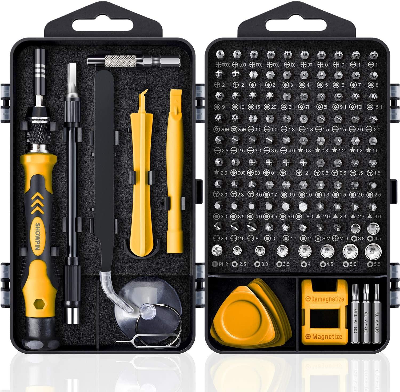 Инструменты для ремонта компьютеров комплект, 122 в 1 Магнитный ноутбук Набор отверток, набор высокоточных отвёрток, небольшой воздействия о...