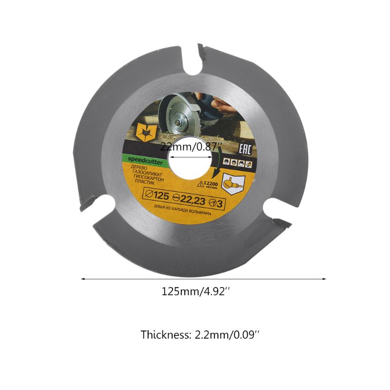 125mm 3T Circular Saw Blade Multitool Wood Carving Cutting Disc Grinder Carbide Power Tool Attachments 83XA