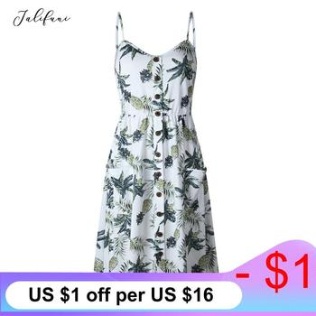 Women Summer Dress 2020 Vintage Bohemian Floral Tunic Beach Dress Female Off Shoulder Backless Holiday Strap Sundress Vestido