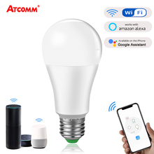 4 pcs 15W 1800 lm WiFi Ampoule LED E27 B22 Intelligent Light Bulb Dimmable Smart ampolleta wifi Lamp Alexa Google Assistant Echo