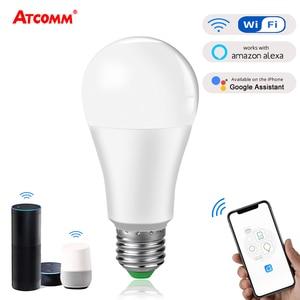 Image 1 - 4 pcs 15W 1800 lm WiFi Ampoule LED E27 B22 Intelligent Light Bulb Dimmable Smart ampolleta wifi Lamp Alexa Google Assistant Echo