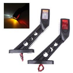 2X 3 Color LED Side Outline Stalk Marker Lights Lamp For Trailer Truck Carvan Lamp Rear Front Side Tail Lights 24V Universal
