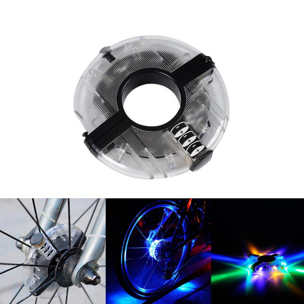 Bike Safety Warning Light Wheel Light Cycling Hub Spoke Light Waterproof LED