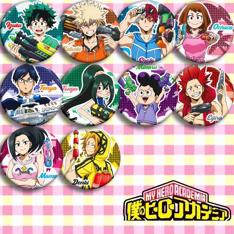 Brdwn My Hero Academia YAOYOROZU MOMO Shigaraki Tomura Kurogiri Dabi Cross My Body Himiko Toga Cosplay Badge #KL