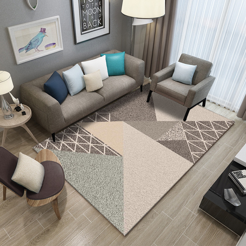 Image 2 - Simple Carpet Rug For Living Room Geometric Wood Floor Rug Non slip Antifouling Carpet For Bedroom Parlor Factory Direct Supply-in Carpet from Home & Garden