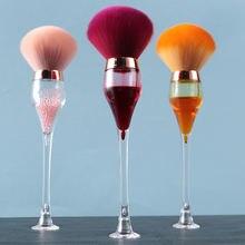 Navida 1 шт винная стеклянная стильная Кисть для макияжа из
