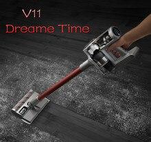 Son Dreame kablosuz elektrikli süpürge V11 ev küçük el halı temizleyici 25KPa 150AW büyük emme Mite sökücü