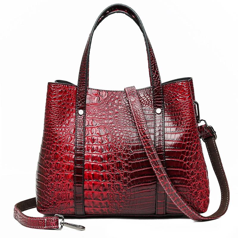 2020  Luxury Handbags Women Bags Designer Fashion Crocodile Pattern Tote Bag Bolsas Feminina Large Capacity Shoulder Bags