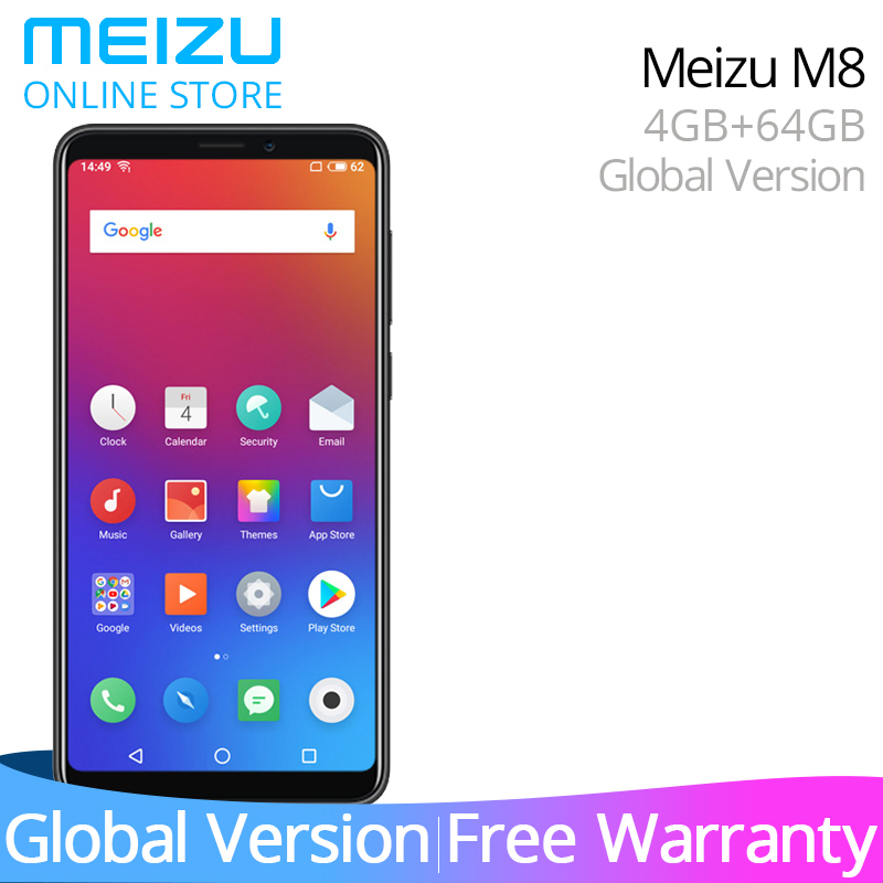 Meizu M8 Global Version V8 M 8 4GB 64GB ROM Smartphone MTK Helio P22 Octa Core 5.7