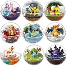 Snorlax 1 pedaço Anime Bola Transparente com Mew Squirtle Charmander Lycanroc Gengar Pokemones Bonecas Figura de Ação Brinquedos Figuras
