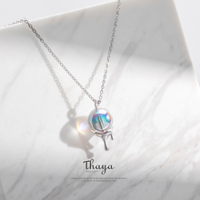 Thaya Arcobaleno Bubble Collana In Argento 925 Collana del choker della boemia per Le Donne Originali Gioielli di Design
