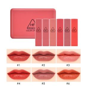 Image 3 - Kabak renk mat uzun ömürlü ruj seti su geçirmez çıplak Batom dudak seti ayna dudaklar makyaj marka HengFang güzellik hediye