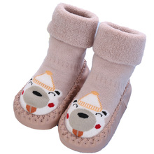 Toddler Indoor Sock Shoes Newborn Baby Winter Thick Terry Cotton Socks Boys Girls Infant Cute Cartoon Animal Non-slip Socks