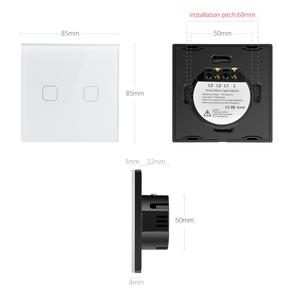 Image 4 - Interruptor táctil 3,2,1 Gang 1 Way, interruptor de pantalla táctil de luz de pared, Panel de interruptor de cristal apto para bombilla LED para lámpara 220V 230V EU UK