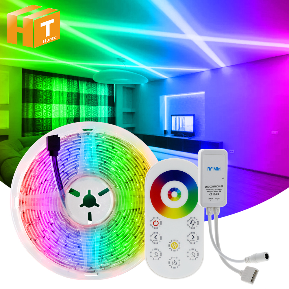 5050 LED Strip RGB   RGBW   RGBWW 5M 10M RGB Color Changeable Flexible LED Light Tape   Remote Controller   DC12V Power Adapter