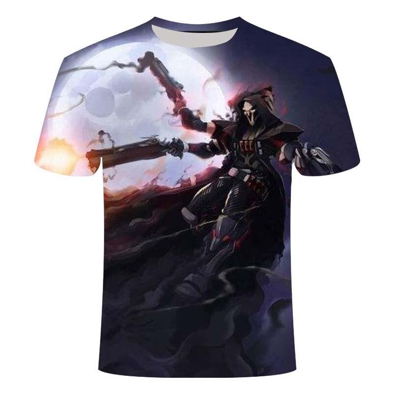 2021 e-sports game Overwatch 3DT shirt men's fashionable e-sports battlefield men's t-shirt game pattern 3D clothes 3