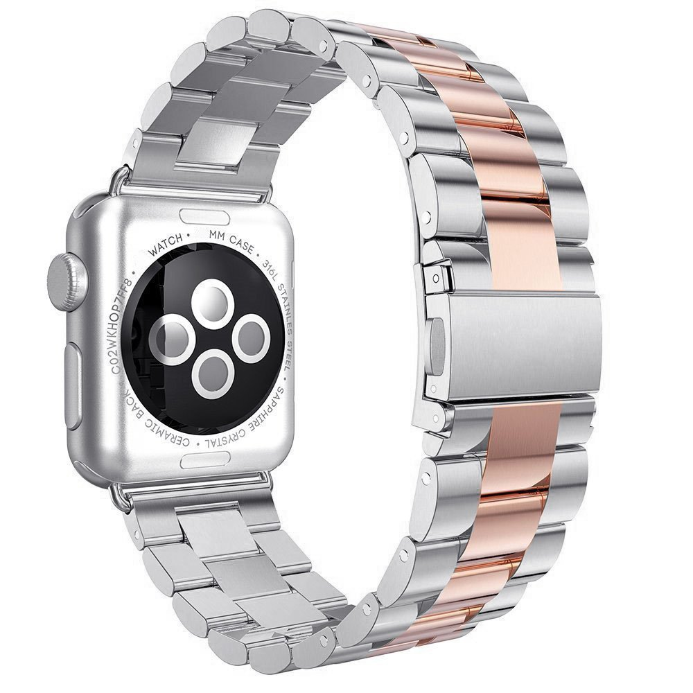 42mm 38mm Metal Stainless Steel Band For Apple Watch Band 40mm 44mm Bracelet Strap Watch Bands for iWatch band Series 5 4 3 2 1(China)