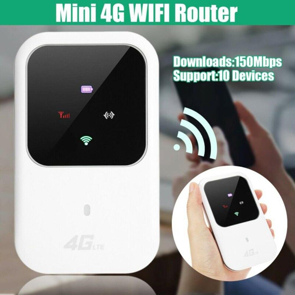 5V/1A Mini Portable 4G LTE Wifi Router Mobile Modem 150Mbps Hotspot SIM Card Slot Unlocked Micro USB 2.0