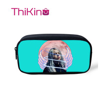 Thikin Billie Eilish Casual Pencil Bags Pen Bag for Girls Case Student Makeup Storage HandBags Purses Kids