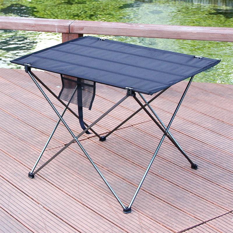 Foldable Table Outdoor Furniture Portable Camping Picnic Computer Tables Ultra Light Anti Slip Folding Desk Aluminium Alloy
