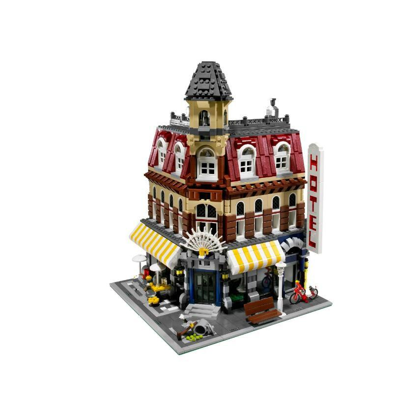 In Stock 15002 2133Pcs Clone City Street Make Cafe Corner Model Building Kits Blocks Brick Toy Kids Gift 10182