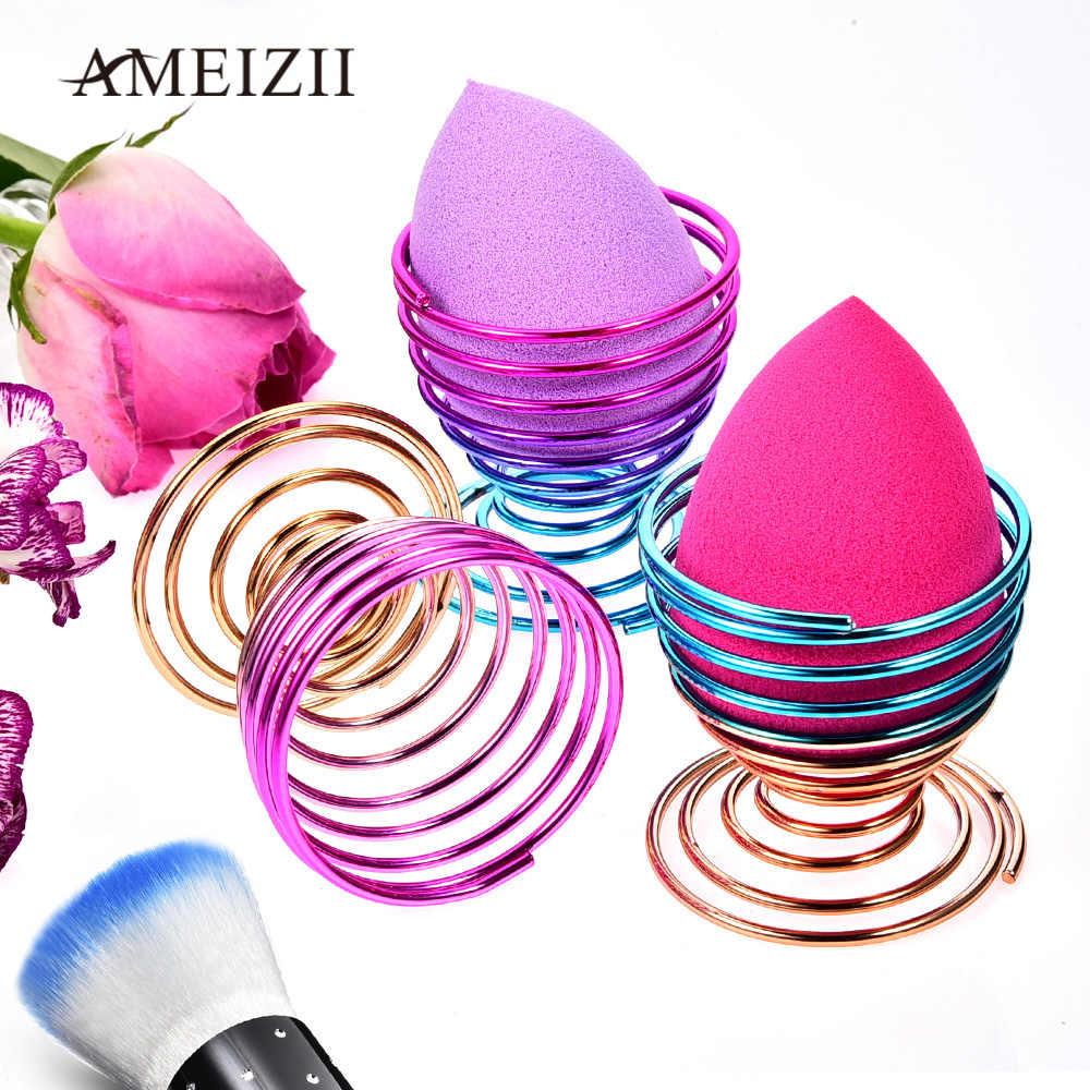 AMEIZII Esponja de Maquiagem Sopro Esponja Ovo Secagem Rack de Cor Gradiente Exibição Suportes De Armazenamento Para Beauty Make Up Powder Puff Blender