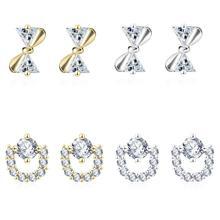 Женские модные геометрические серьги с полным кристаллом золотого