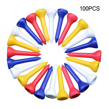 36mm Golf Wood Tees 100pcs/lot Golf Tees Professional Plastic Golf Tees Driver Training Golf Accessories сумка printio unforgettable experience tees