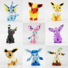 13-20cmEevee Plush Toy Set Sylveon Espeon Flareon Umbreon Glaceon Jolteon Vaporeon Leafeon Soft Filled Child Gift WJ156