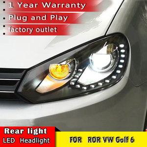 Image 2 - Car Styling 2010 2013 for VW Golf 6 Headlights  Volkswagen Golf LED Headlight DRL Bi Xenon Lens High Low Beam Parking Fog Lamp