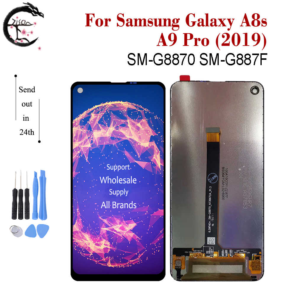 """6.4"""" LCD For SAMSUNG Galaxy A8s SM-G8870 SM-G887F Display A9 Pro 2019 LCD Screen Touch Panel Sensor Digitizer Assembly G887 New"""