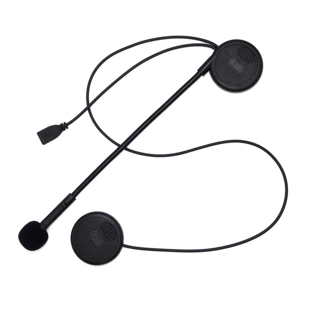 Wireless New Design Ultra-Thin Motorcycle Helmet Earphone Headset Bt Speaker Headset Helmet With Microphone Sponge