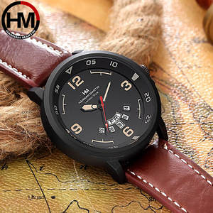 Mens Watches Fashion Classic Roulette Scale Calendar Leather Belt Men's Business Quartz Watch Relogio Masculino