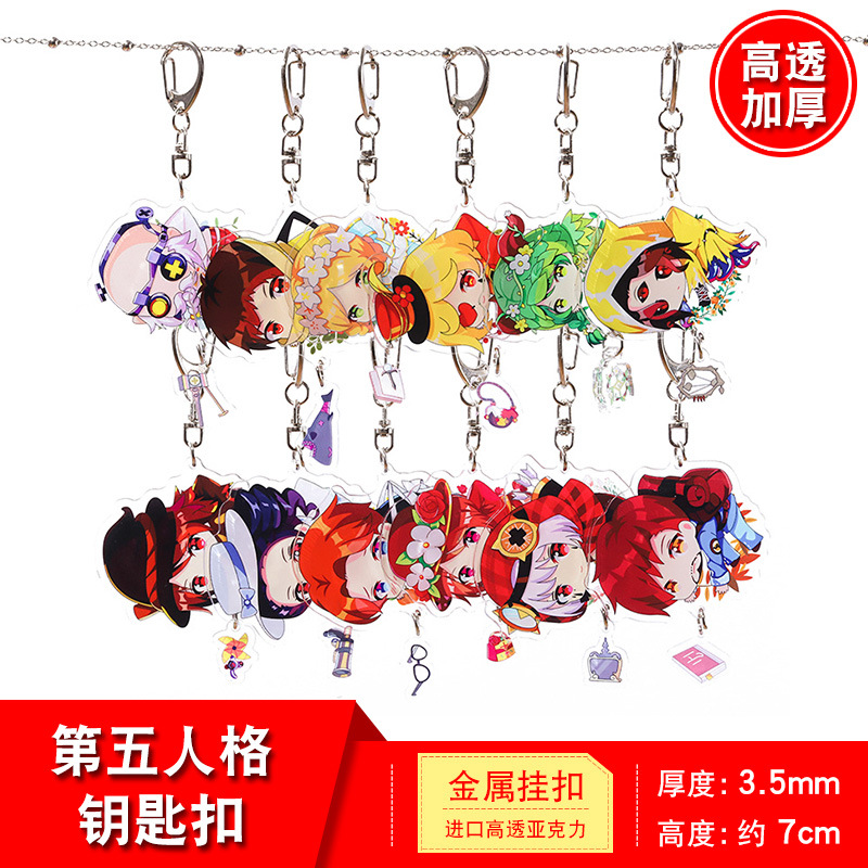 Game Identity V Cartoon Acrylic Keychain Freddy Riley Joker Emma Woods Joseph Desaulniers Cute Funny Pendant Key Chains Kids Toy