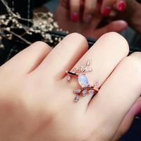 shilovem 925 sterling silver real Natural opal Rings fine Jewelry women trendy wedding new Christmas gift 4*6mm jcj04069292ago