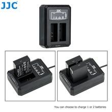 JJC LC E12C USB Dual Battery Charger For Canon LP E12 LPE12 Batteries on Canon PowerShot SX70 HS EOS M M50 Mark II M100 M50 M10