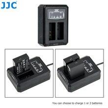 JJC LC E12C bateria z podwójnym gniazdem USB ładowarka do canona LP E12 LPE12 na baterie Canon PowerShot SX70 HS EOS M M50 Mark II M100 M50 M10