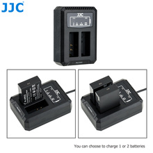JJC cargador USB LC E12C para Canon LP E12 LPE12, cargador de batería Dual para Canon PowerShot SX70 HS EOS M M50 Mark II M100 M50 M10